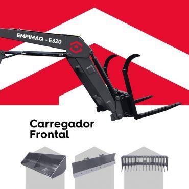 Carregador frontal, mais eficiência para mover cargas.